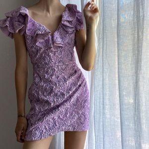 ZARA NWT Limited Edition Ruffled Mini Dress